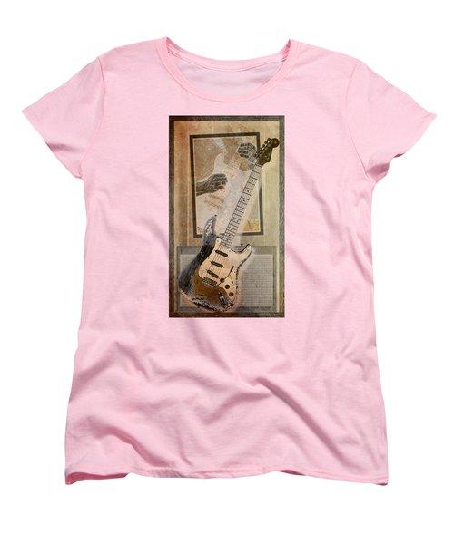 Women's T-Shirt (Standard Cut) featuring the digital art Sepia Strat by WB Johnston