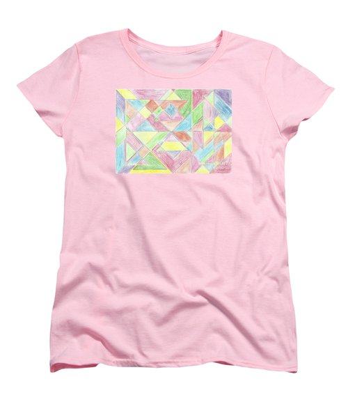 Shapes Of Colour Women's T-Shirt (Standard Cut) by Tracey Williams