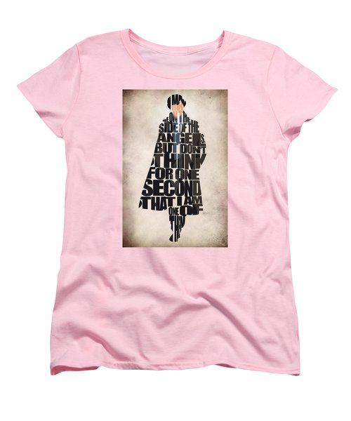 Sherlock - Benedict Cumberbatch Women's T-Shirt (Standard Cut) by Ayse Deniz