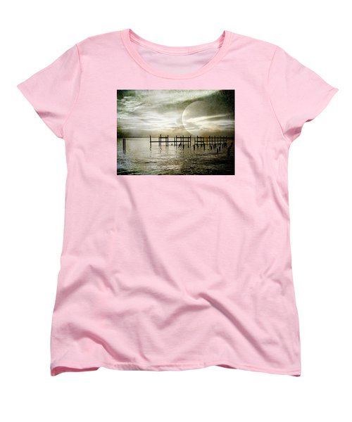 Women's T-Shirt (Standard Cut) featuring the photograph Silhouettes  by Kathy Bassett