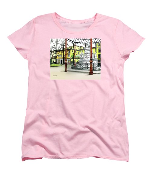 Women's T-Shirt (Standard Cut) featuring the painting Silla Hotel Piazza Demidoff Florence by Albert Puskaric