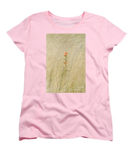 Simple Splash Of Color Women's T-Shirt (Standard Cut) by Debra Martz