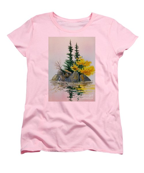 Women's T-Shirt (Standard Cut) featuring the painting Sitka Isle by Teresa Ascone