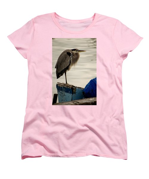 Sittin' On The Dock Of The Bay Women's T-Shirt (Standard Cut) by Donna Greene