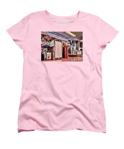 Sitting At The Counter Women's T-Shirt (Standard Cut) by Peggy Hughes