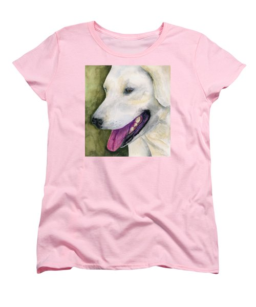 Smiling Lab Women's T-Shirt (Standard Cut) by Stephen Anderson