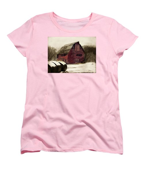Snow Bales Women's T-Shirt (Standard Cut) by Julie Hamilton