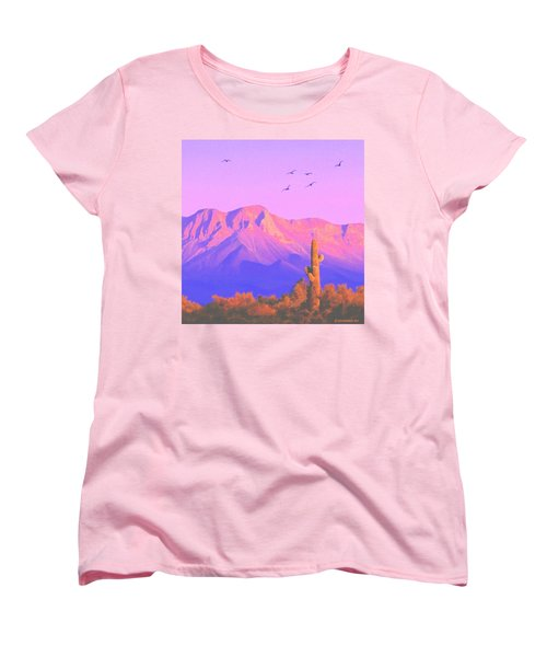 Women's T-Shirt (Standard Cut) featuring the painting Solitary Silent Sentinel by Sophia Schmierer