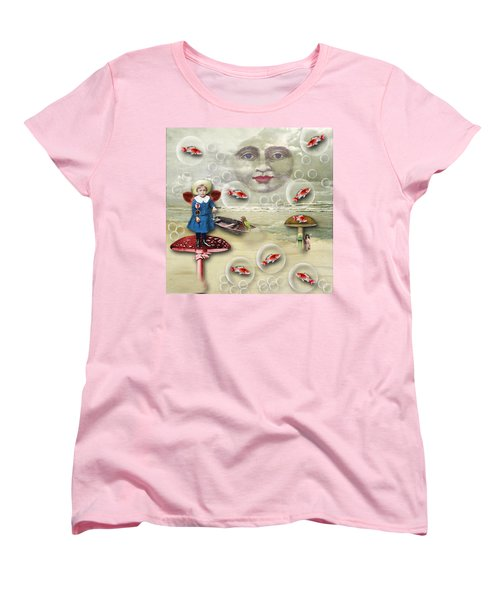 Something Fishy At The Shore Women's T-Shirt (Standard Cut)