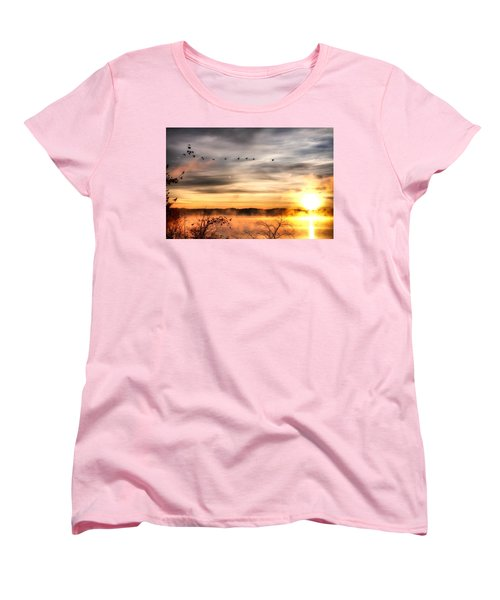Women's T-Shirt (Standard Cut) featuring the photograph South Carolina Morning by Lynne Jenkins