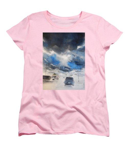 South Maple Road   Ann Arbor Michigan Women's T-Shirt (Standard Cut) by Yoshiko Mishina