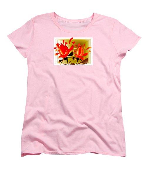 Women's T-Shirt (Standard Cut) featuring the digital art Spirit Of Roses by Iris Gelbart
