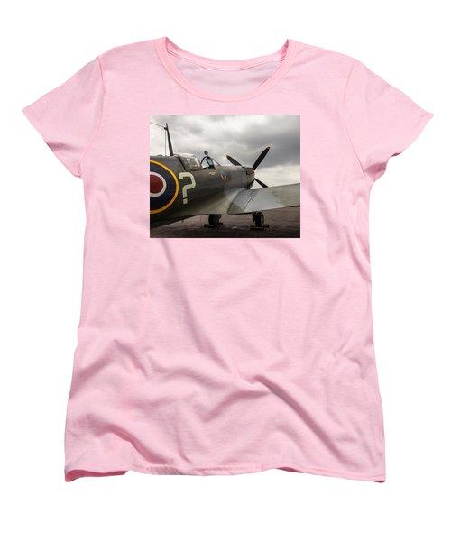 Spitfire On Display Women's T-Shirt (Standard Cut)