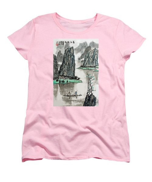 Spring River Women's T-Shirt (Standard Cut) by Yufeng Wang
