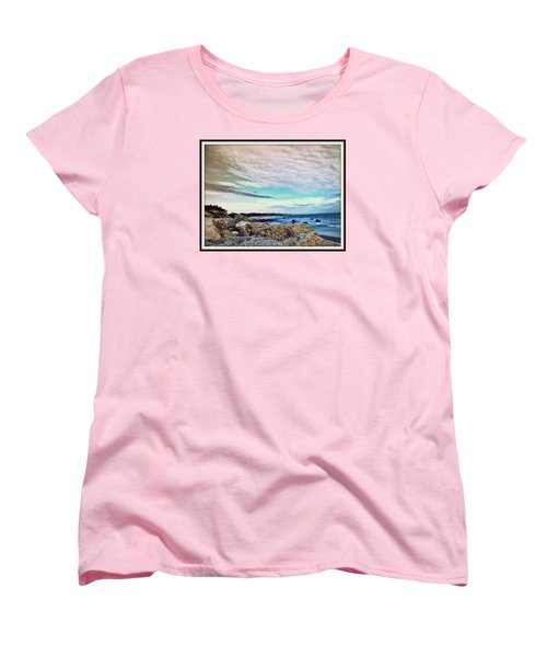 Squibby Cliffs And Mackerel Sky Women's T-Shirt (Standard Cut) by Kathy Barney