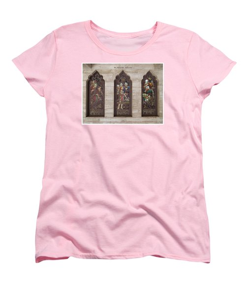 St Josephs Arcade - The Mission Inn Women's T-Shirt (Standard Cut) by Glenn McCarthy Art and Photography