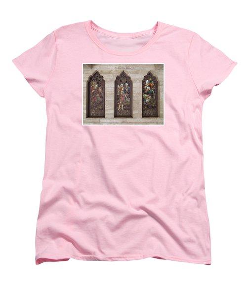 Women's T-Shirt (Standard Cut) featuring the photograph St Josephs Arcade - The Mission Inn by Glenn McCarthy Art and Photography