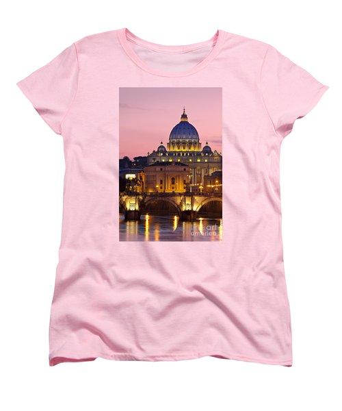 St Peters Basilica Women's T-Shirt (Standard Cut) by Brian Jannsen