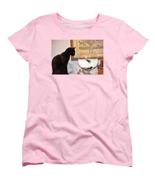 Stand Off Women's T-Shirt (Standard Cut) by Janice Spivey