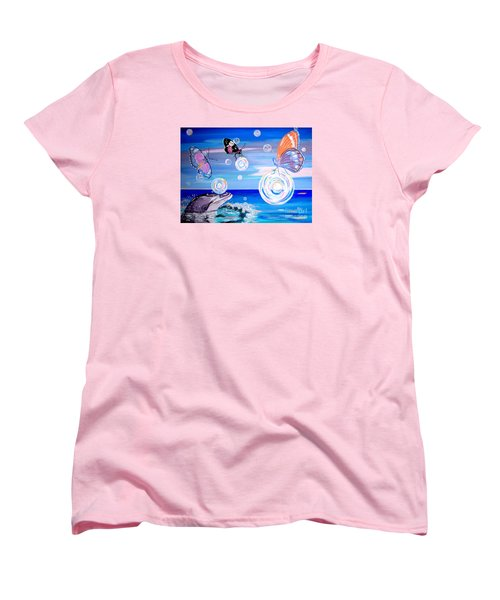Stay And Play Women's T-Shirt (Standard Cut) by Phyllis Kaltenbach