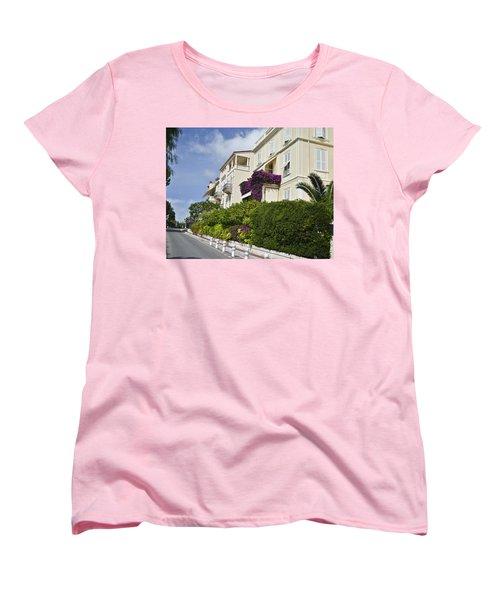 Women's T-Shirt (Standard Cut) featuring the photograph Street In Monaco by Allen Sheffield