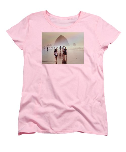 Women's T-Shirt (Standard Cut) featuring the photograph Summer At The Seashore  by Micki Findlay