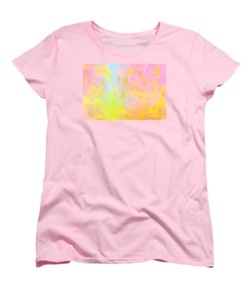 Women's T-Shirt (Standard Cut) featuring the photograph Summer Joy Abstract by Judy Palkimas