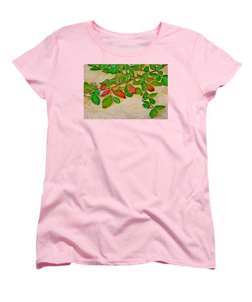 Summer Leaves Women's T-Shirt (Standard Cut) by Johanna Bruwer