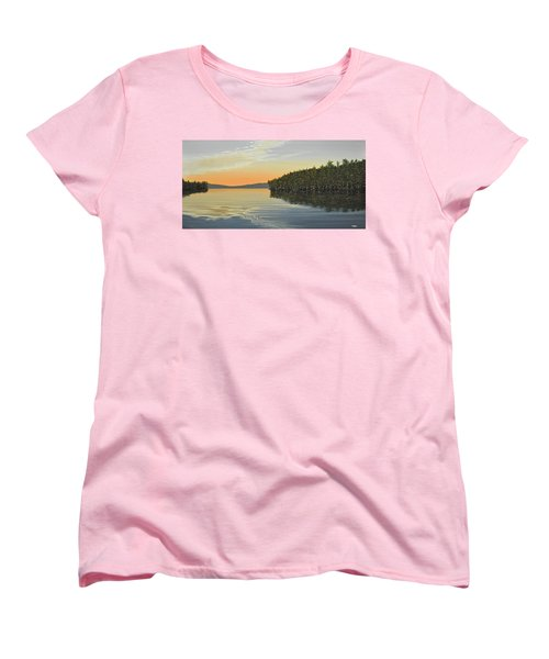 Women's T-Shirt (Standard Cut) featuring the painting Summers End by Kenneth M  Kirsch
