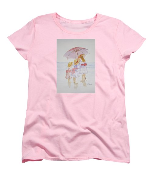 Sunday Best At The Beach Women's T-Shirt (Standard Cut) by Elvira Ingram