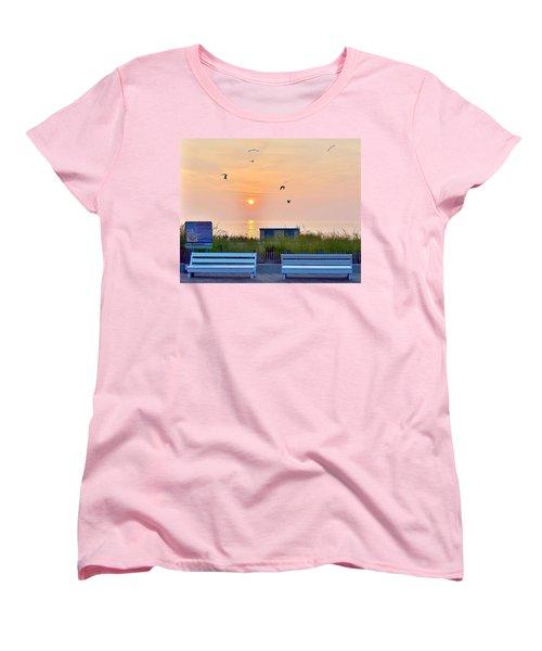 Sunrise At Rehoboth Beach Boardwalk Women's T-Shirt (Standard Cut)