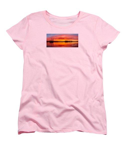 Sunrise Bay Women's T-Shirt (Standard Cut) by Alice Cahill