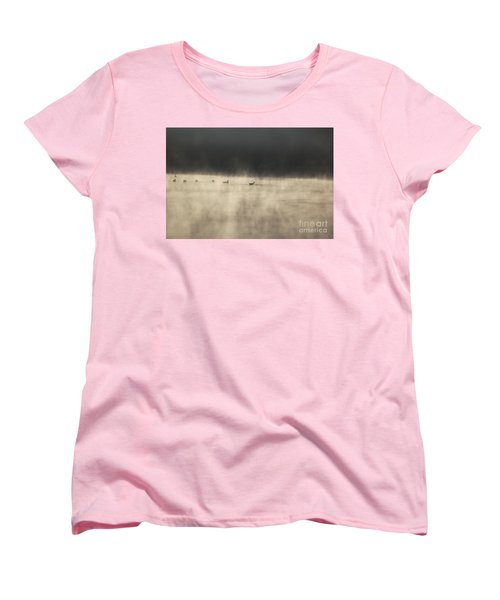Sunrise Geese Women's T-Shirt (Standard Cut)