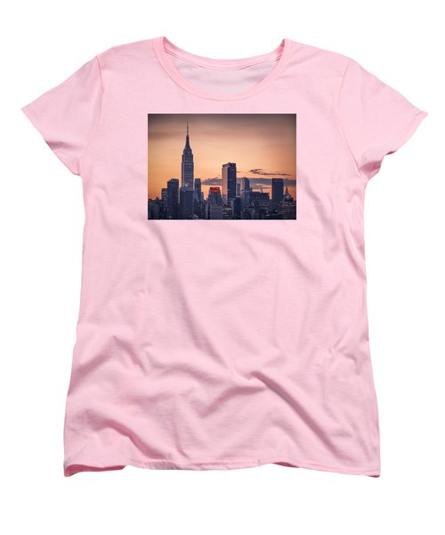 Manhattan Sunrise Women's T-Shirt (Standard Cut) by Eduard Moldoveanu