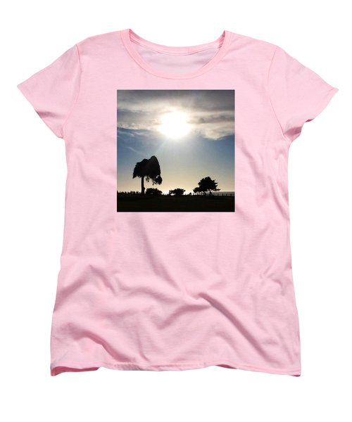 Women's T-Shirt (Standard Cut) featuring the photograph Sunset At La Jolla by Susan Garren