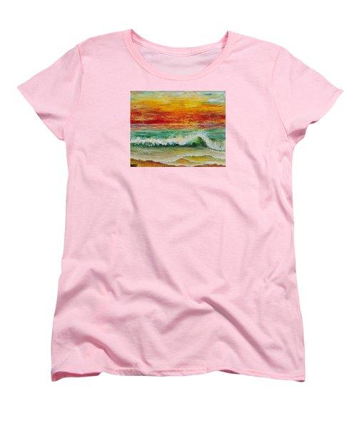 Sunset Breeze Women's T-Shirt (Standard Cut) by Teresa Wegrzyn