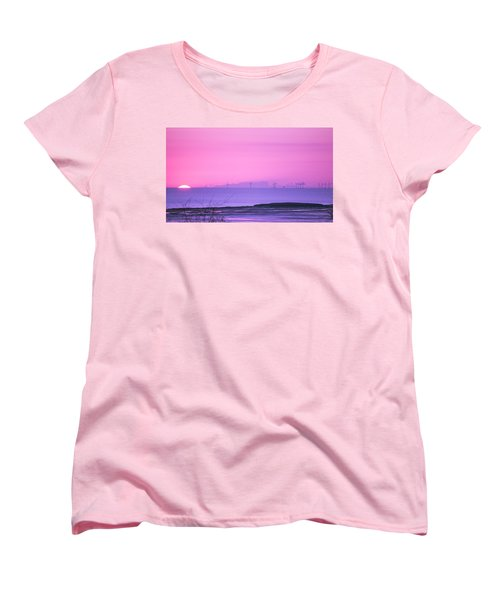 Sunset Women's T-Shirt (Standard Cut) by Spikey Mouse Photography