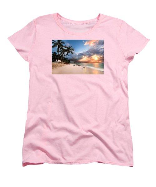 Sunset Over Bacardi Island Women's T-Shirt (Standard Cut) by Mihai Andritoiu