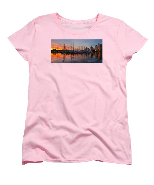 Women's T-Shirt (Standard Cut) featuring the photograph Sunset View From Charleson Park In Vancouver Bc by JPLDesigns