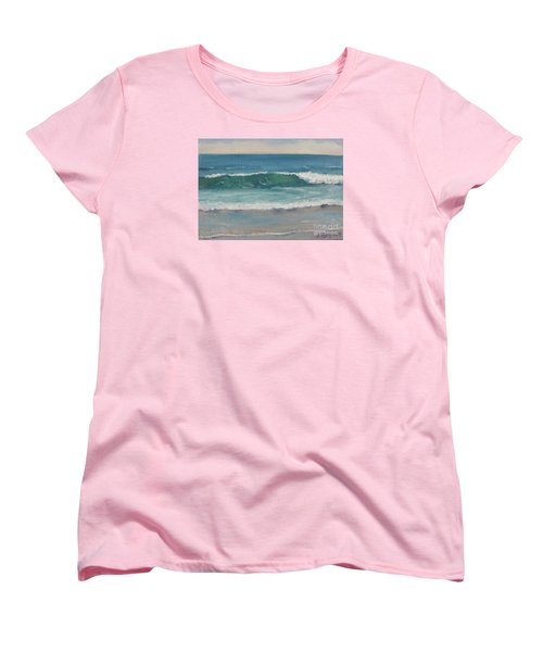 Women's T-Shirt (Standard Cut) featuring the painting Surf Series 5 by Jennifer Boswell