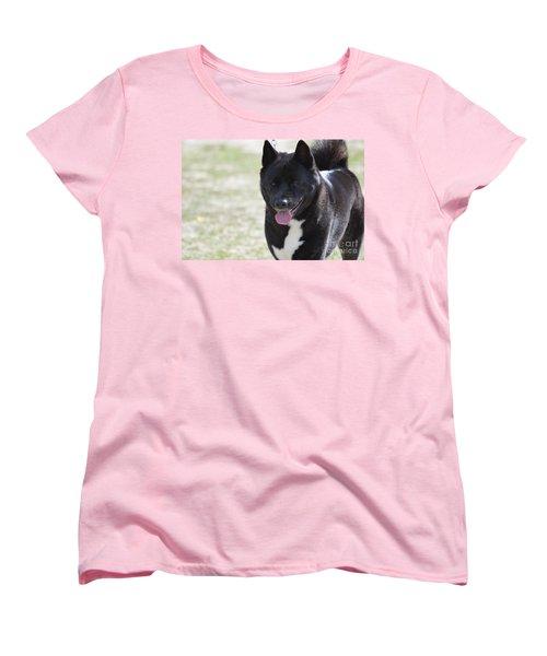Sweet Akita Dog Women's T-Shirt (Standard Cut) by DejaVu Designs