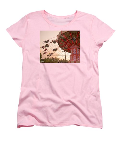 Swings At Kennywood Park Women's T-Shirt (Standard Cut) by Carrie Zahniser