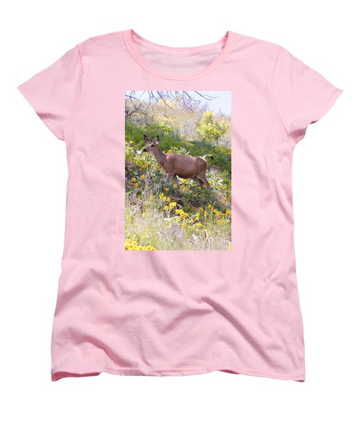 Women's T-Shirt (Standard Cut) featuring the photograph Taking A Stroll In The Country by Athena Mckinzie