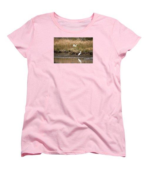Women's T-Shirt (Standard Cut) featuring the photograph Taking Flight by Rebecca Davis