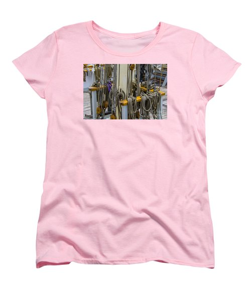 Women's T-Shirt (Standard Cut) featuring the photograph Tall Ship Lines by Dale Powell