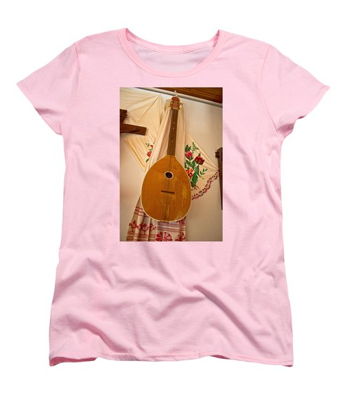 Tamburica Croatian Traditional Music Instrument Women's T-Shirt (Standard Cut) by Brch Photography