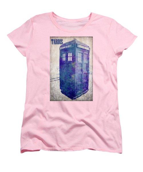 Tardis Women's T-Shirt (Standard Cut) by Paulette B Wright