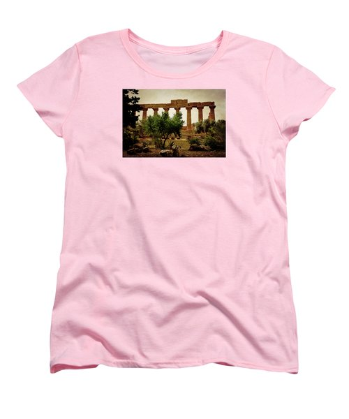 Temple Of Juno Lacinia In Agrigento Women's T-Shirt (Standard Cut) by RicardMN Photography