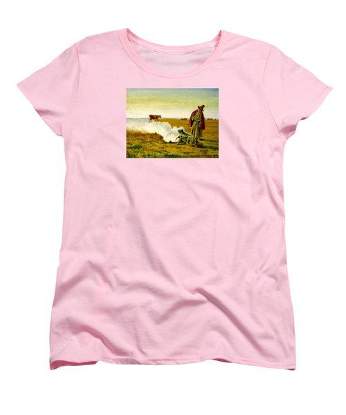 Women's T-Shirt (Standard Cut) featuring the painting The Autumn by Henryk Gorecki