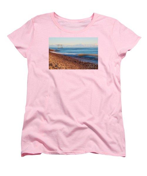 Women's T-Shirt (Standard Cut) featuring the photograph The Boat Hoist by Patrick Shupert